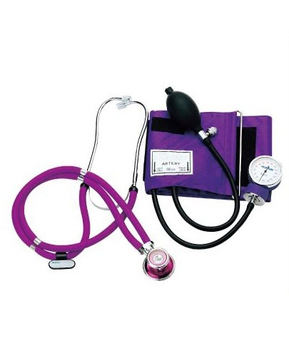 Handmatige bloeddrukmeters met stethoscoop