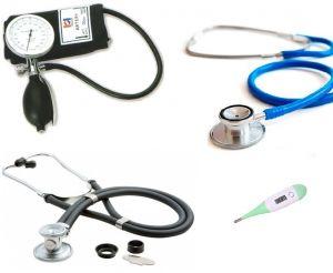 Handmatige bloeddrukmeter PALM type met 2 stethoscopen (sprague rappaport stethoscoop ST-SQ15X en basis stethoscoop ST-SA05X) ST-A214